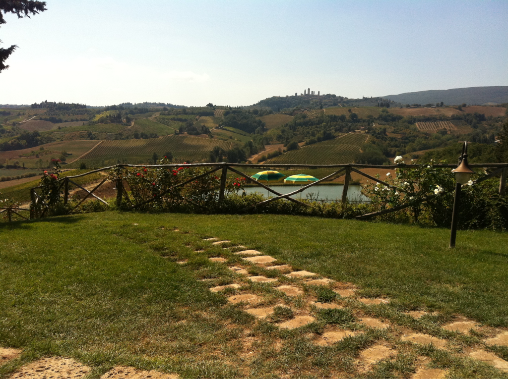 Lunch with a view in Tuscany