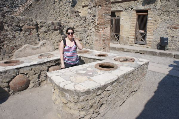 Catherine at Herculaneum